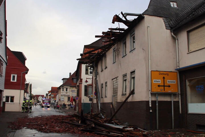 Chaos im südhessischen Münster.