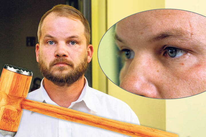 Schmerzhafter Herrentag: Ralph R. (39) bekam den Fleischklopfer zu spüren.