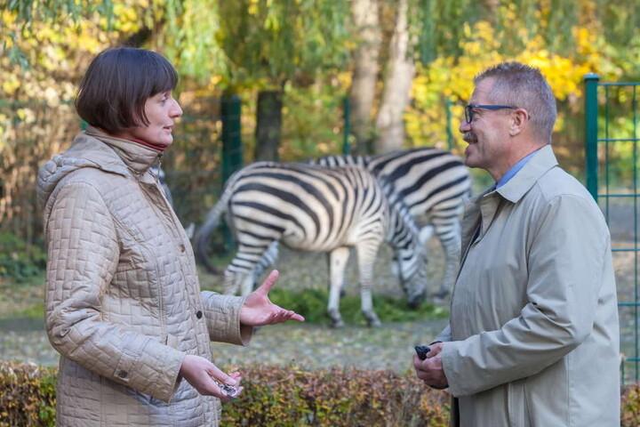 Tierpark-Chefin Anja Dube (45) und Bürgermeister Miko Runkel (54, parteilos) versuchen seit Jahren, den Tierpark aufzupäppeln.