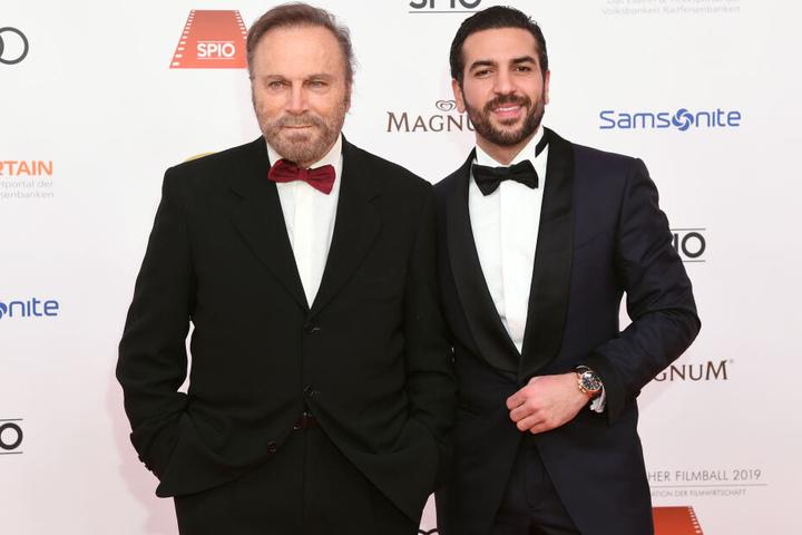 Der italienische Schauspieler Franco Nero (l) mit seinem Kollegen Elyas M'Barek.