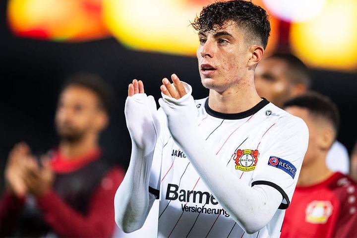 Hat in zwei Spielen bereits drei Tore erzielt und eines vorbereitet: Leverkusens Shooting-Star Kai Havertz führt mit Bayer die Tabelle der Gruppe A an.