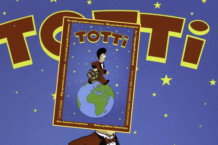 Seine Reisen und Abenteuer hat Clown Totti in einem Comic-Buch festgehalten.