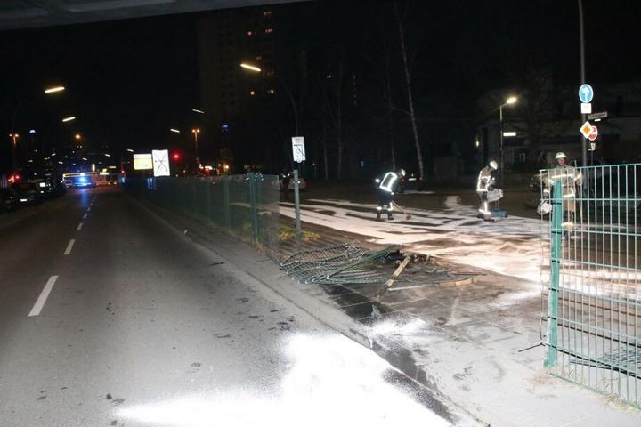 Der betrunkene Fahrer durchbrach einen Zaun gleich zwei Mal.