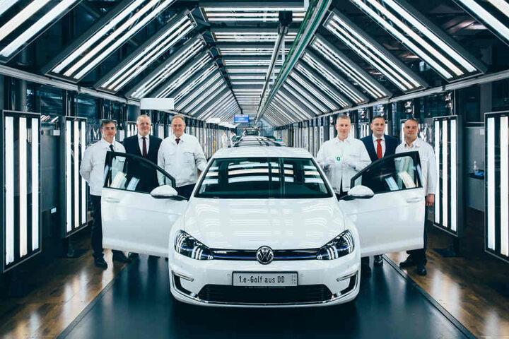 Der neue E-Golf wird in der Gläsernen Manufaktur produziert.