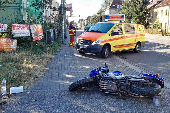 Der Motorradfahrer kam schwer verletzt ins Krankenhaus.