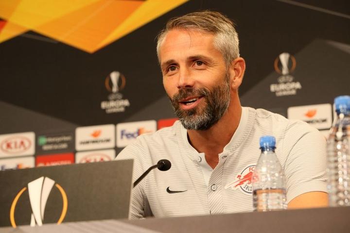 Marco Rose, gebürtiger Leipziger, trifft am Donnerstag erstmals mit Salzburg auf die Sachsen.
