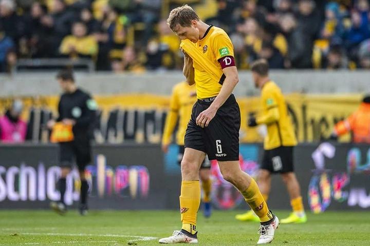 Kapitän Marco Hartmann ist Dynamos Sinnbild für die derzeitige Verletzungsanfälligkeit.