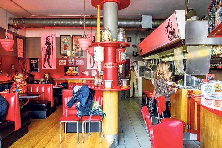 """Noch bis Sonntag ist das """"Devils Kitchen"""" an der Alaunstraße offen."""