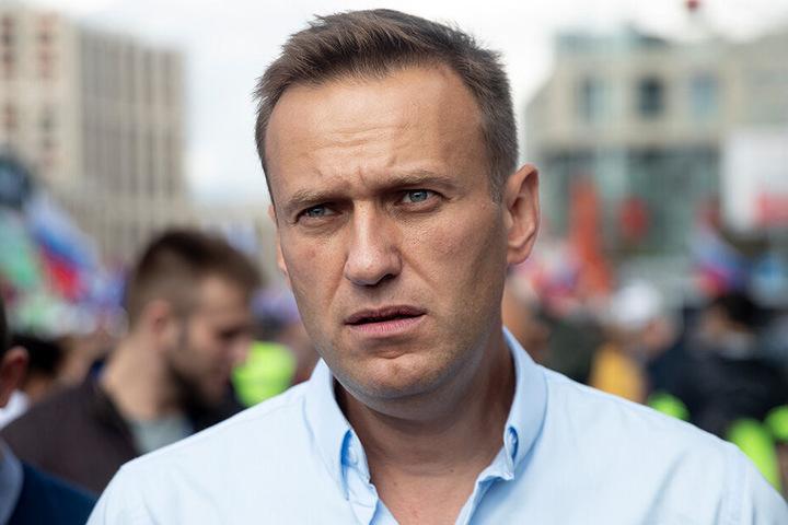 Alexej Nawalny, Oppositionspolitiker von Russland, nimmt in Moskau an einer Demonstration gegen den Ausschluss von Kandidaten bei den Wahlen für das Stadtparlament teil.