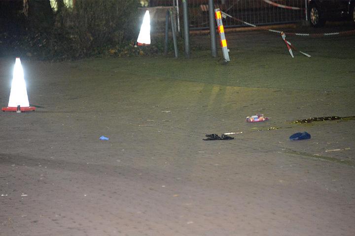 Das ist der Tatort, an dem die Polizei nun ermittelt.