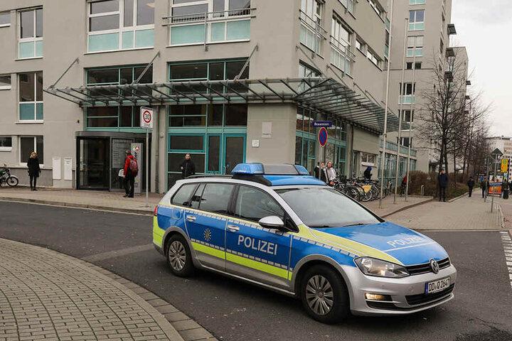 Im Januar 2018 musste die Polizei zur Arbeitsagentur an der Henriette-Heber-Straße ausrücken.