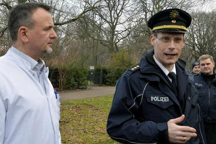 Rechtsmediziner Dr. Carsten Babian (l.) und Polizeidirektor Leif Woidtke stellten am Donnerstag ihre Studienergebnisse vor.