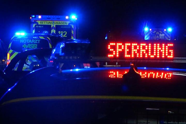 Die A5 wurde vorübergehend bis in die Nacht zu Mittwoch hinein voll gesperrt.