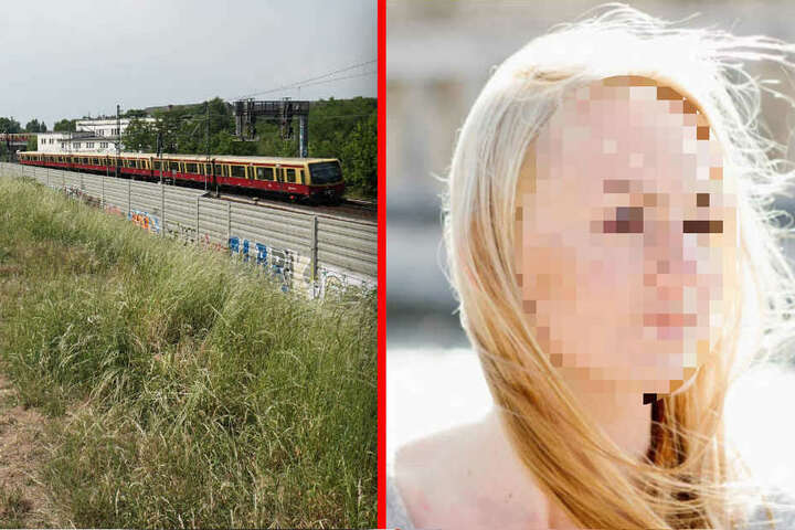 An diesem Bahndamm in Berlin-Pankow wurde die Leiche von Melanie R. am 27. Mai 2018 gefunden. (Bildmontage)