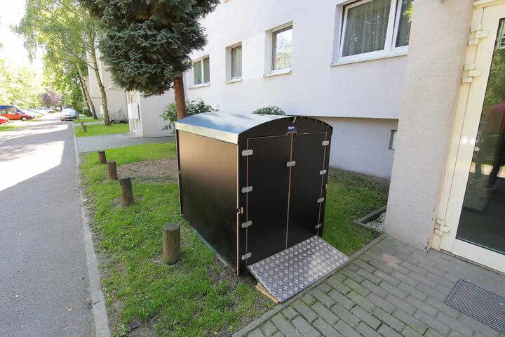 In so einer kostenpflichtigen Mieterbox soll der Kinderwagen untergebracht  werden, wenn es nach Vonovia geht.