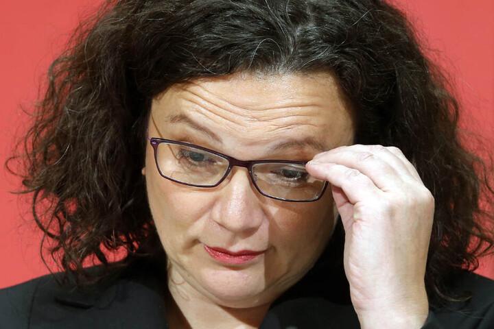 Andrea Nahles gab am Sonntag ihren Rücktritt als Partei- und Fraktionschefin der SPD bekannt.