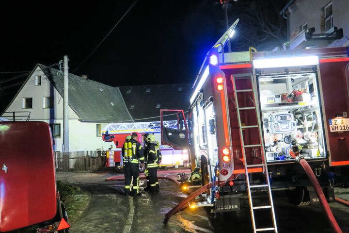 Die Feuerwehr löschte den Brand in Culitzsch.