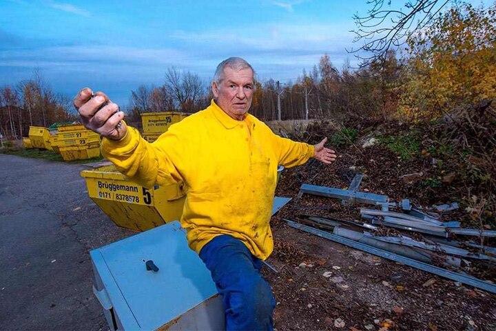 Erwischte Diebe mit seinen Überwachungskameras: Unternehmer Erland Brüggemann (69).