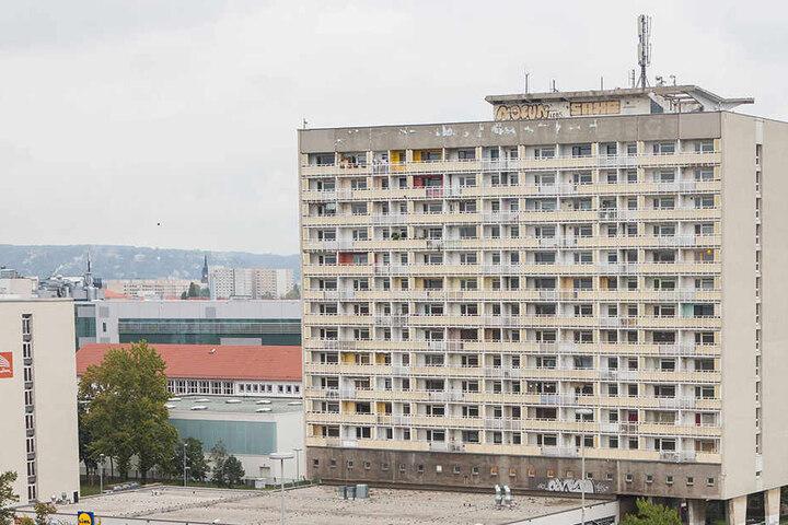 Das Haus am Pirnaischen Platz muss bis 2018 geräumt werden.