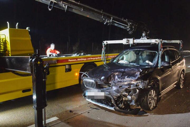 Insgesamt zehn Autos waren ineinander gekracht.
