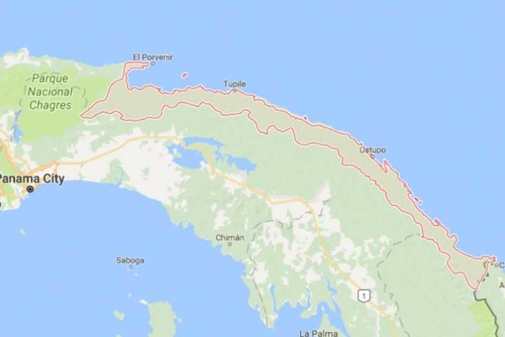 Die rot markierten Inseln vor der Küste Panamas sind vom Untergang bedroht.