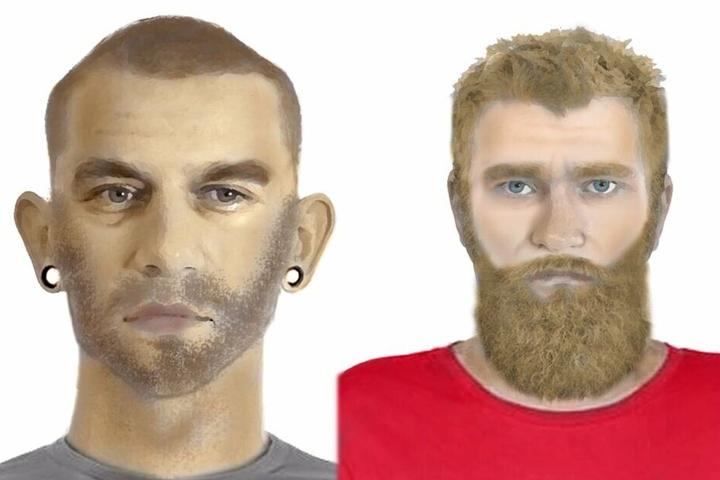 Mit diesen Bildern sucht die Polizei nach den beiden Tatverdächtigen.