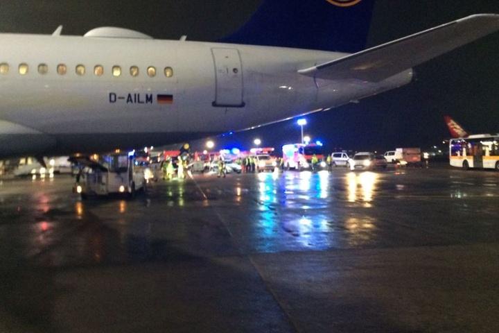 Betreiber Fraport erklärte, betroffen sei eine Lufthansa-Maschine mit Ziel Dresden.