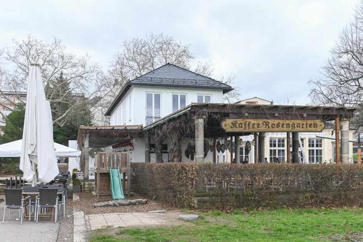 Der Rosengarten am Neustädter Elbufer ist sehr beliebt.