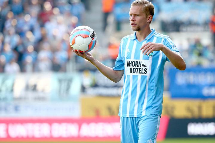 Dennis Grothe muss mit dem CFC im Sachsen-Pokal nach Bautzen.
