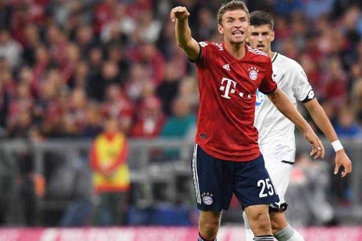 Thomas Müller konnte in der Hinrunde gegen die TSG 1899 Hoffenheim ein Tor erzielen. (Archivbild)