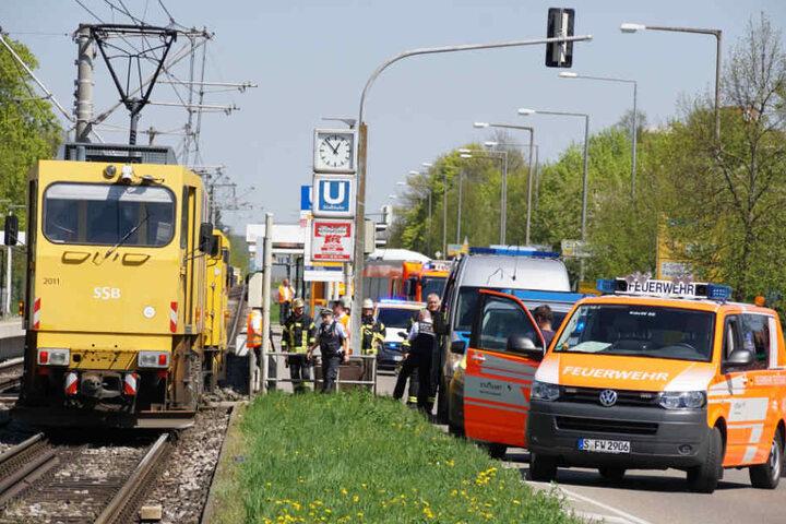 Die Solitudestraße wurde im Bereich der Haltestelle Wolfbusch gesperrt.