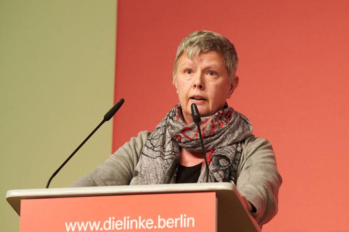 """Berlin solle eine """"solidarische Stadt"""" werden, so Linke-Landesvorsitzende Katina Schubert ."""