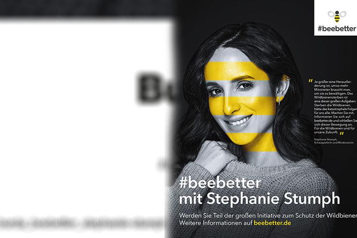Gestreift wie eine Biene - Stephanie Stumph ruft zur Rettung der Wildbienen auf. 560 Arten gibt es in Deutschland.