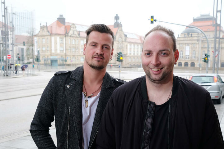 """Ric Einenkel (l) und Sebastian Seidel werden auch weiterhin als """"Stereoact"""" gemeinsame Produktionen starten."""