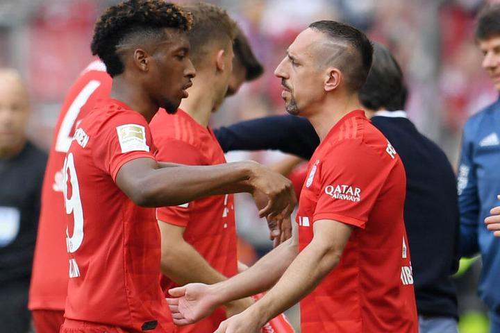 Die Bayern-Spieler Kingsley Coman (l.) und Franck Ribéry (r.) werden immer wieder miteinander verglichen.