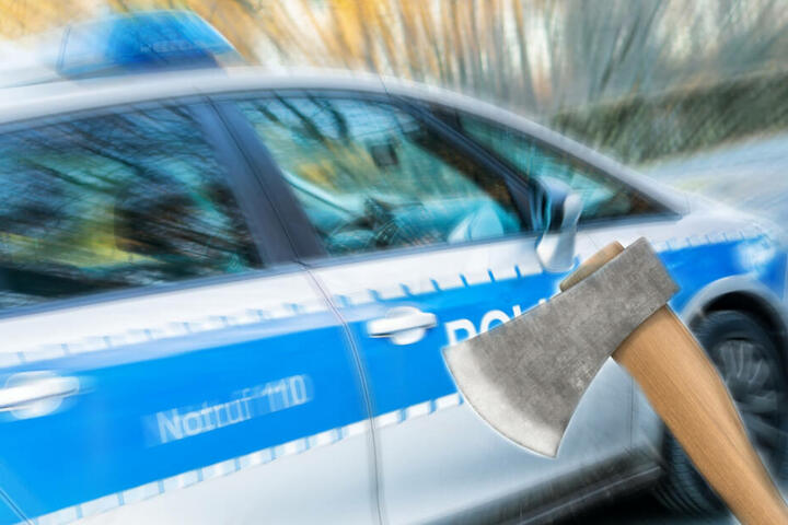 Die Polizei hat den Mann noch in der Wohnung des Opfers festgenommen. (Symbolbild/ Fotomontage)