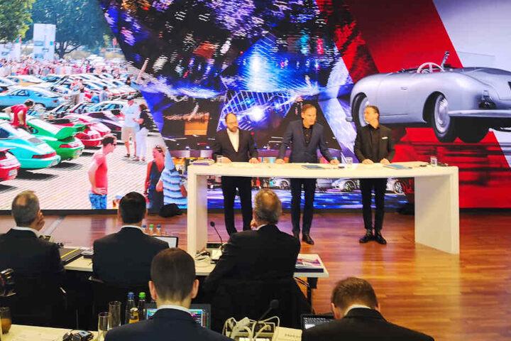 Die Porsche-Chefs zeigten sich auf der Jahrespressekonferenz sehr zufrieden mit dem wirtschaftlichen Ergebnis aus dem vergangenen Jahr.