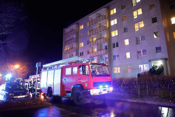 Das Heim am Ottendorfer Hang musste während des Feuerwehreinsatzes evakuiert werden.