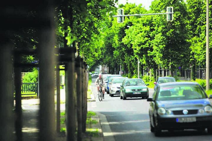 Auch die Kreuzung Winterbergstraße/Grunaer Weg wird für Radler verbessert.