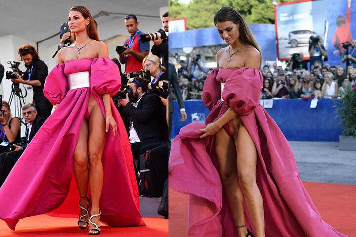 Ganz so nackt waren sie dann doch nicht. Das brasilianische Model Dayane Mello zeigt, wie Frau sich bedeckt, ohne einen Slip zu tragen.