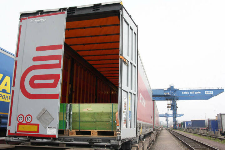 In diesem Container fand der Hafenmitarbeiter zwölf Flüchtlinge.