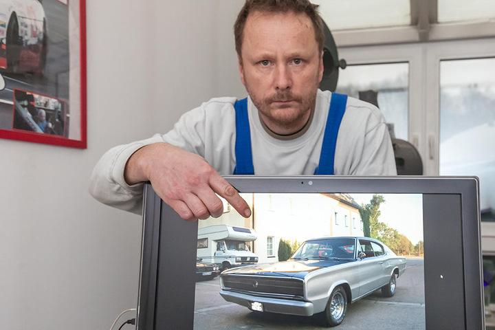 Diesen wertvollen Dodge Charger stahlen Einbrecher aus einer Garage im  Lutherviertel.