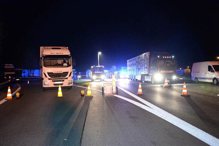 Die A2 wurde nach dem dramatischen Unfall komplett gesperrt.