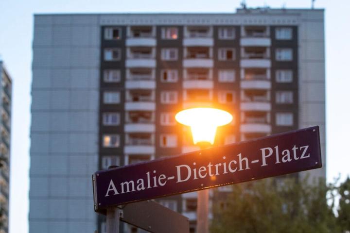 Ein 18-Jähriger setzte mehrere Wohnungen am Amalie-Dietrich-Platz unter Wasser.