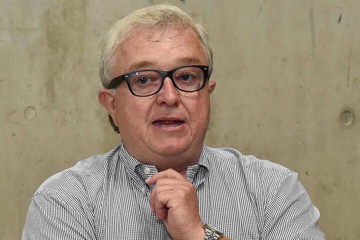 Eislöwen-Boss Volker Schnabel.