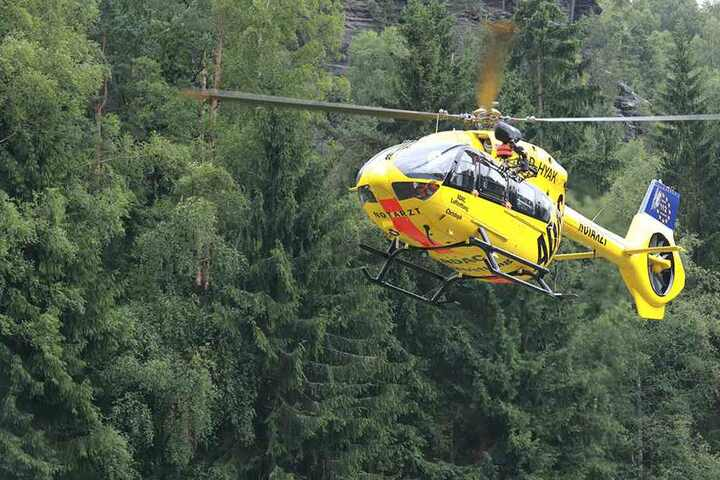 Der Verletzte wurde jedoch mit dem Helikopter transportiert (Archivbild).