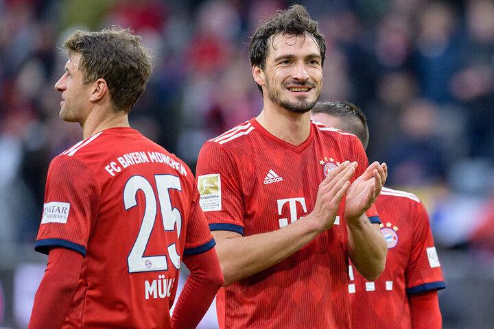 Die Bayern-Stars Mats Hummels (r.) und Thomas Müller (l.) gaben auf dem Platz die Antwort auf die Nationalmannschafts-Ausbootung.