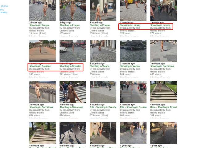Auch Videos aus Dresden und Leipzig sind im Netz aufgetaucht.