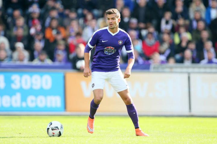 Julian Riedel zählte beim FC Erzgebirge in der Hinrunde zum Stammpersonal, in der Rückrunde war er außen vor.