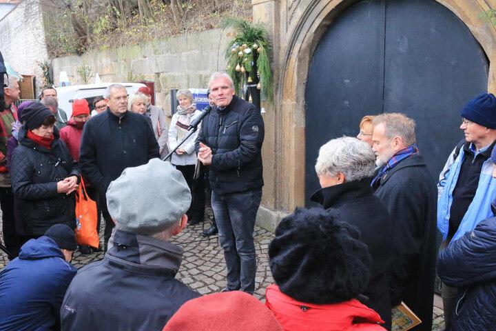 Oberbürgermeister Andreas Bausewein eröffnete die Ausstellung.